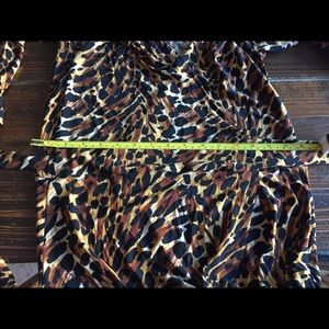 Beautiful Wrap Leopard Print Dress